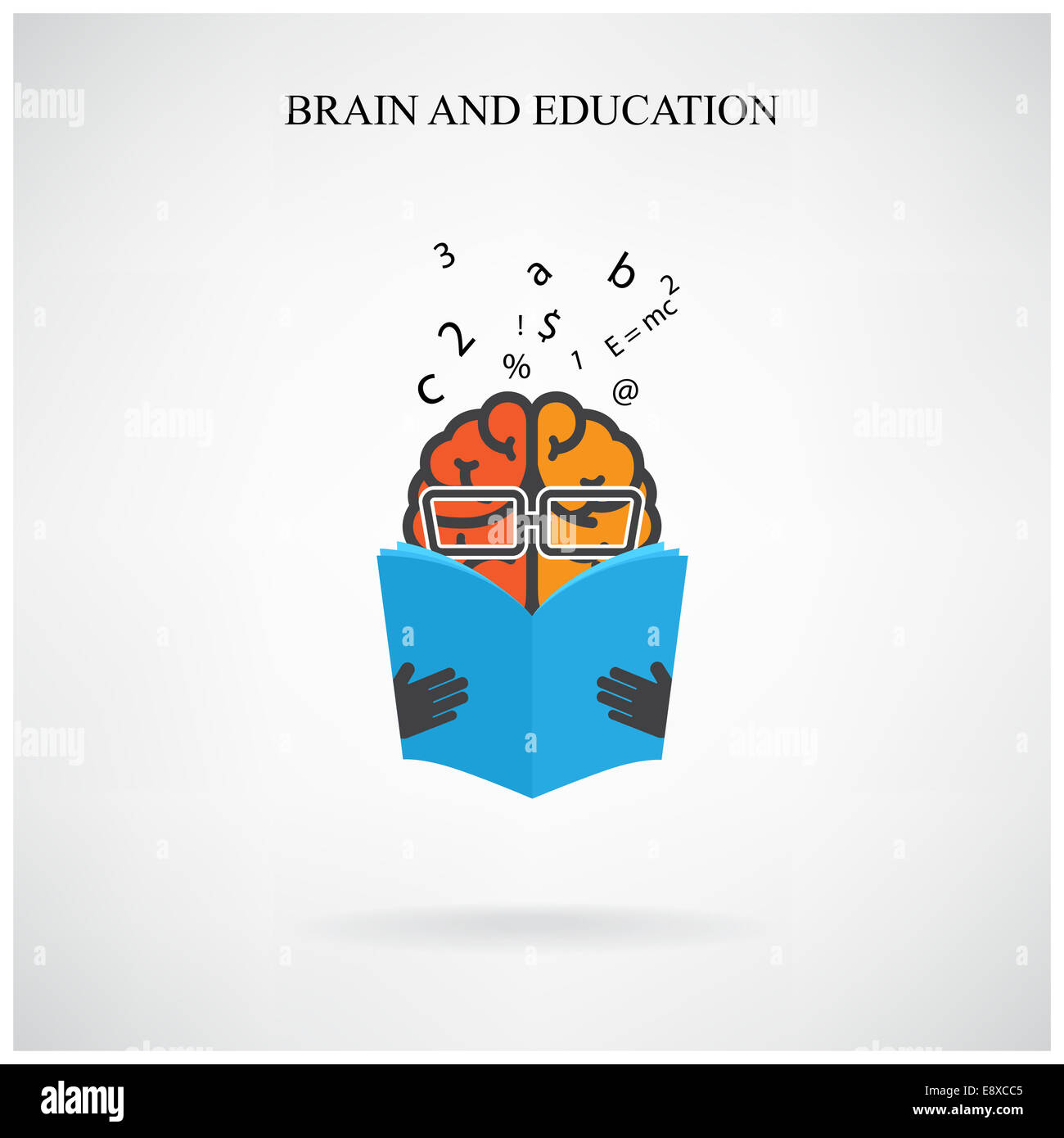 creative brain sign and book symbol on background, design for poster ... for Education Creative Poster Designs  279cpg