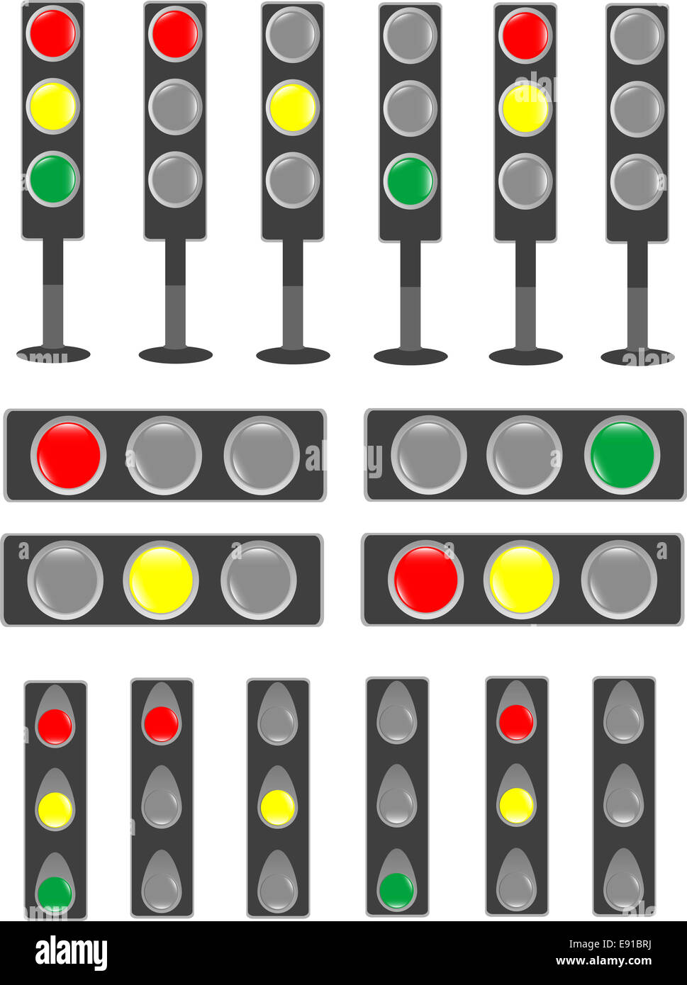 Traffic Light Status Bar Semaphore.