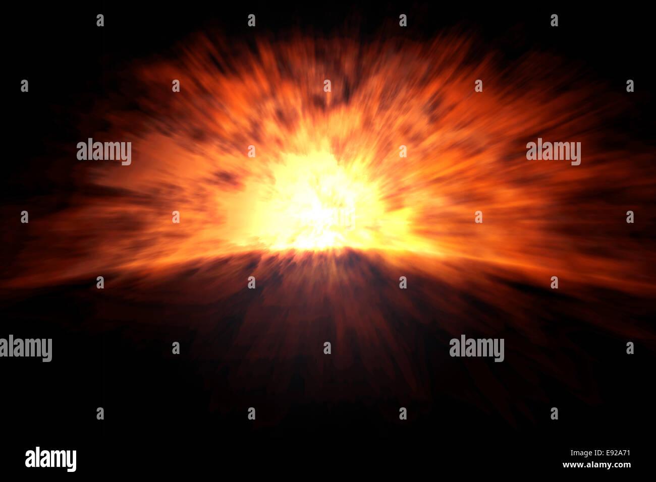 explosion - Stock Image