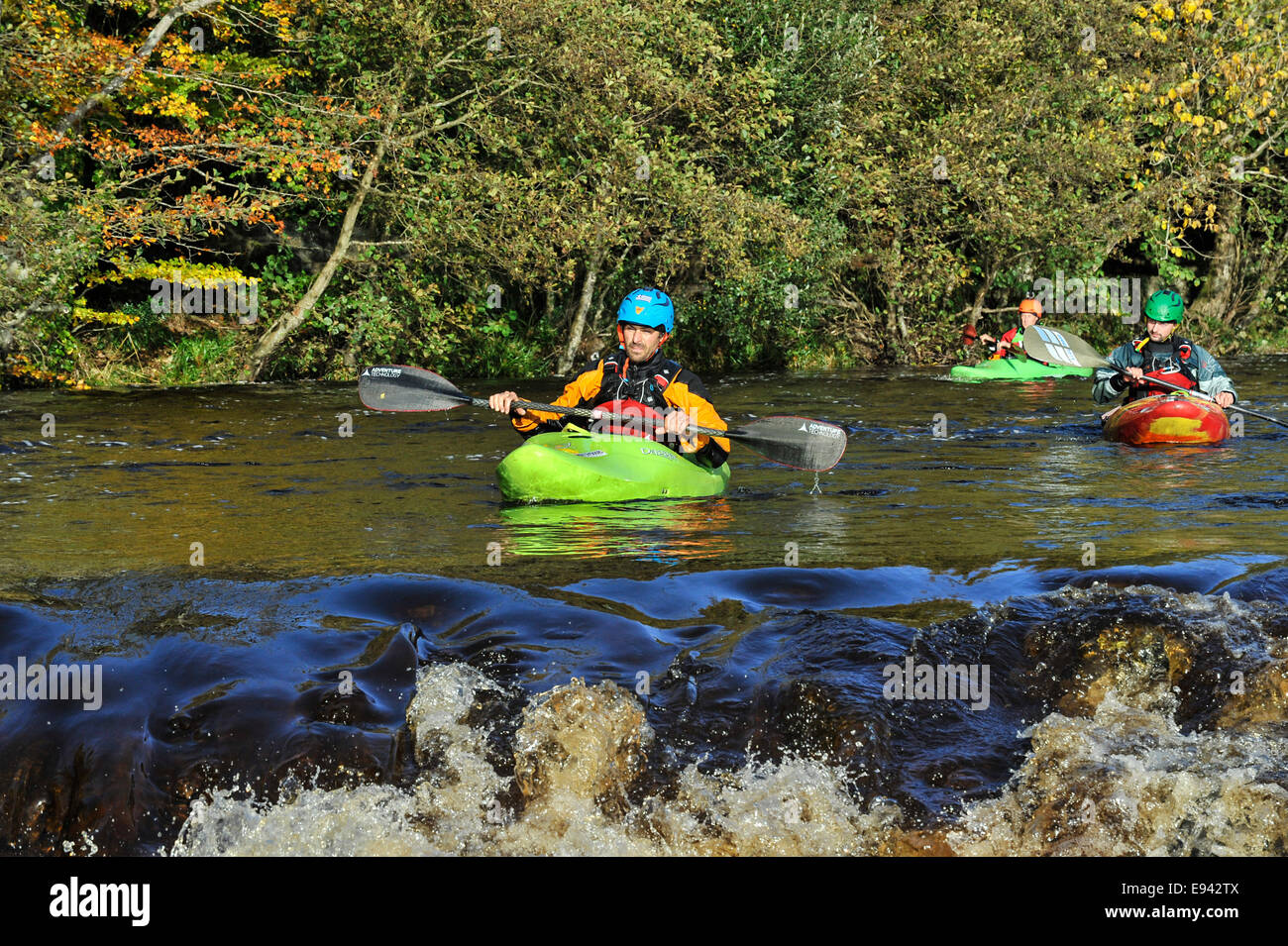 Stock Photo - Kayaking competition, Buncrana, County Donegal, Ireland.  ©George Sweeney /Alamy - Stock Image