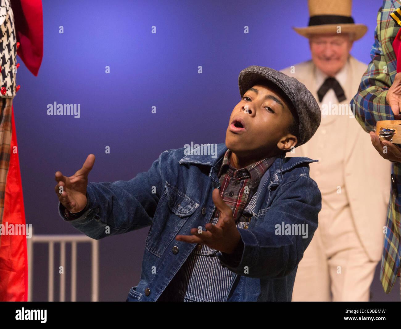 The Musical 'The Scottsboro Boys' at the Garrick Theatre, London. Keenan Munn-Francis as Eugene Williams. - Stock Image
