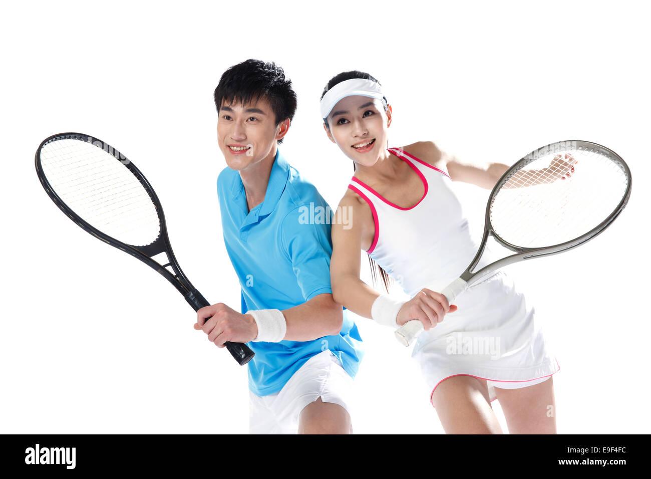 Tennis Players - Stock Image