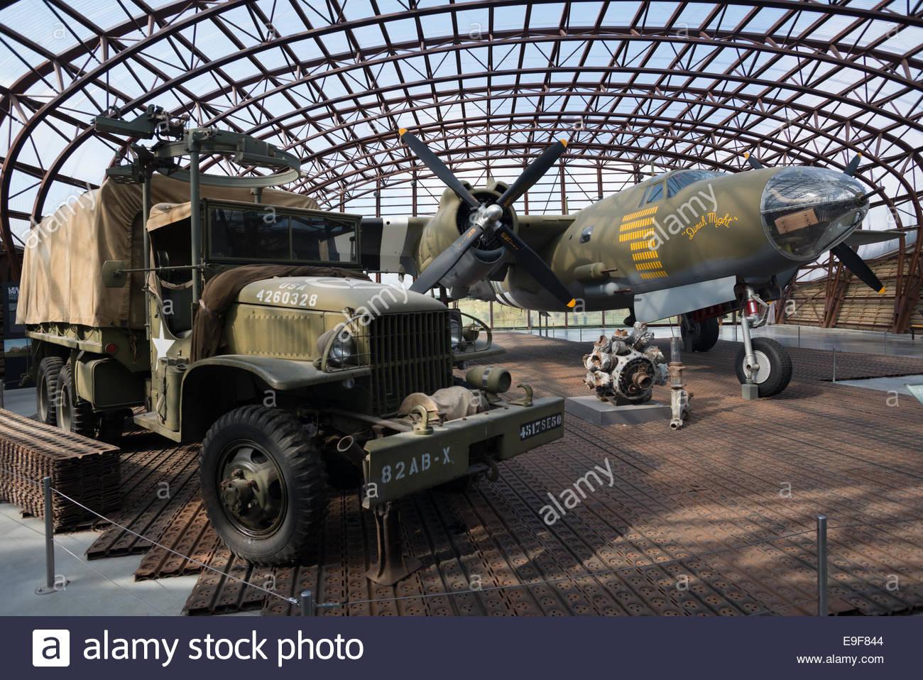 us-b-26-bomber-aircraft-utah-beach-landi