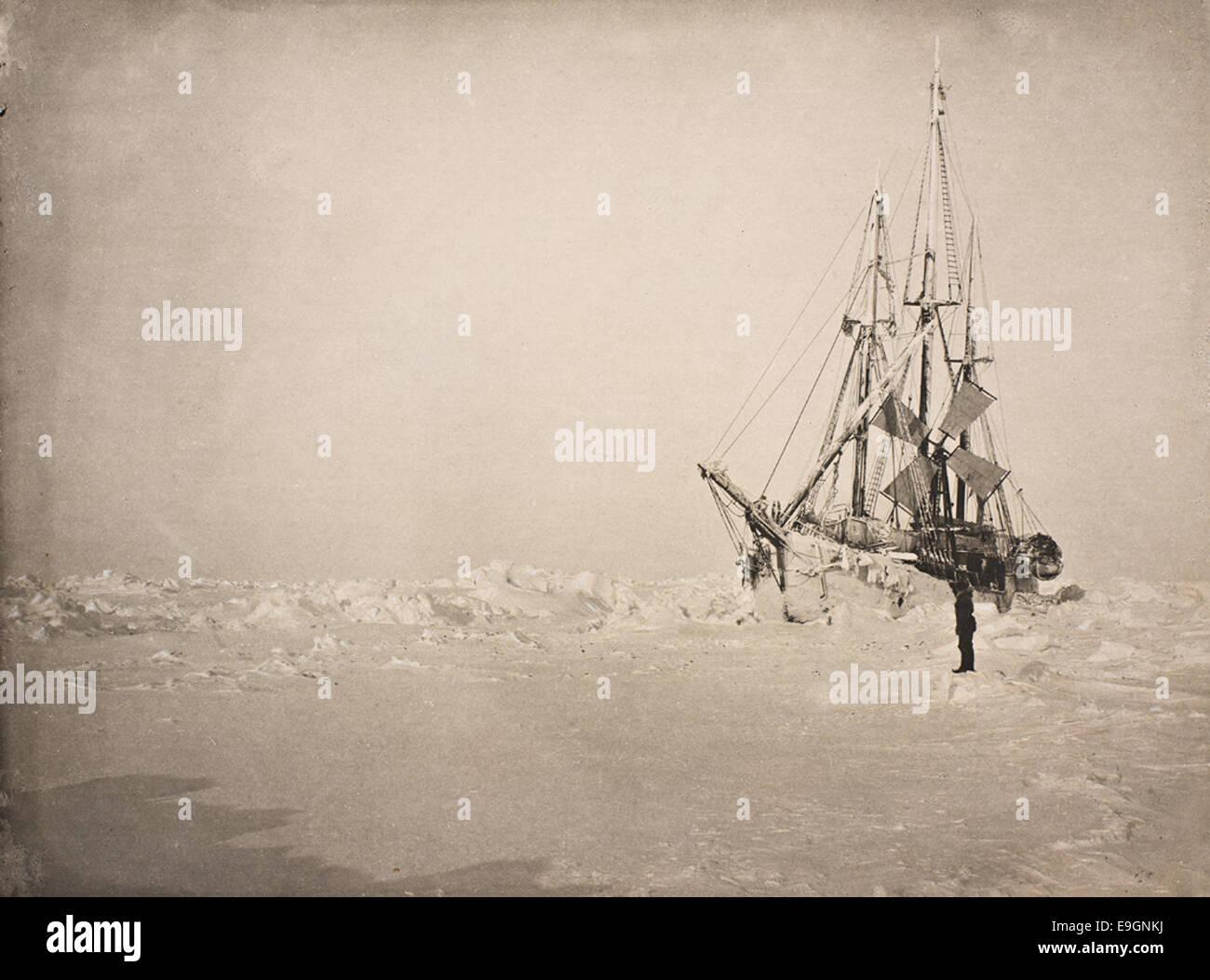 """""""Fram"""" i isen, 1894 Stock Photo"""