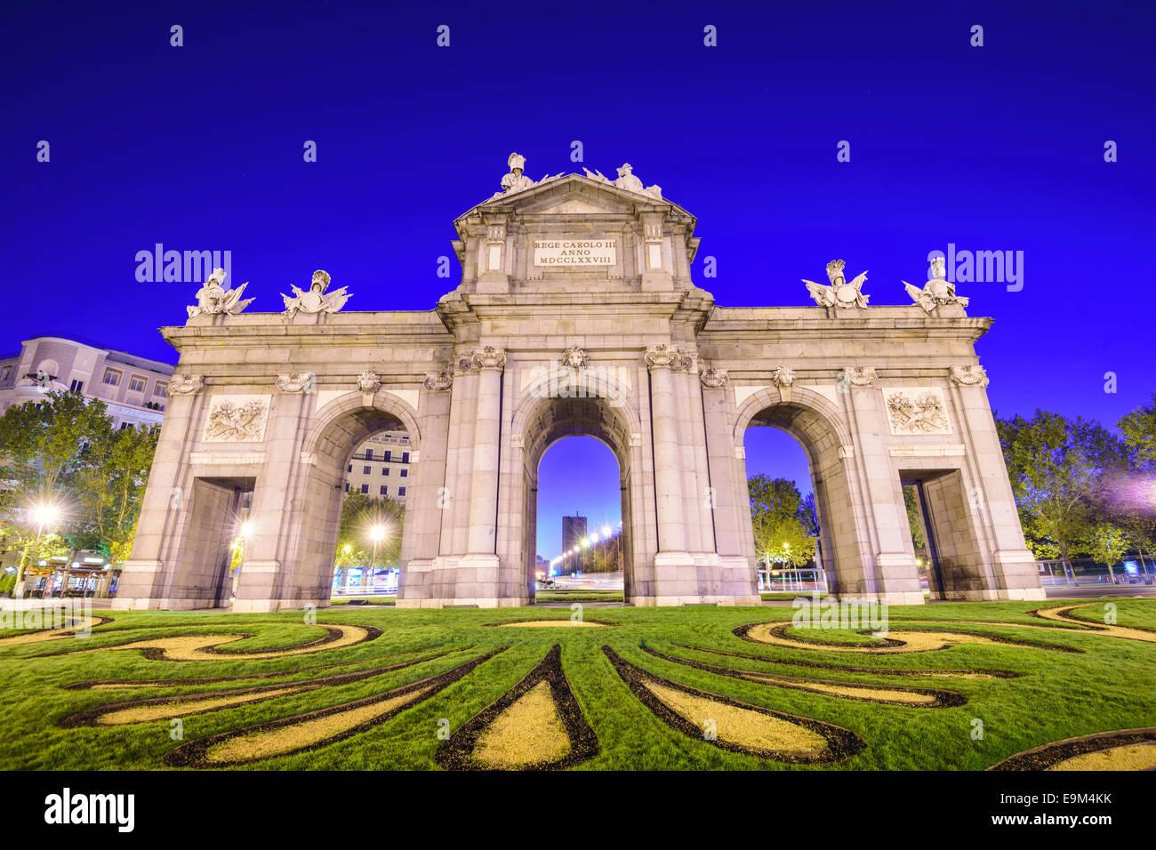 Puerta De Alcala gate in Madrid, Spain. - Stock Image