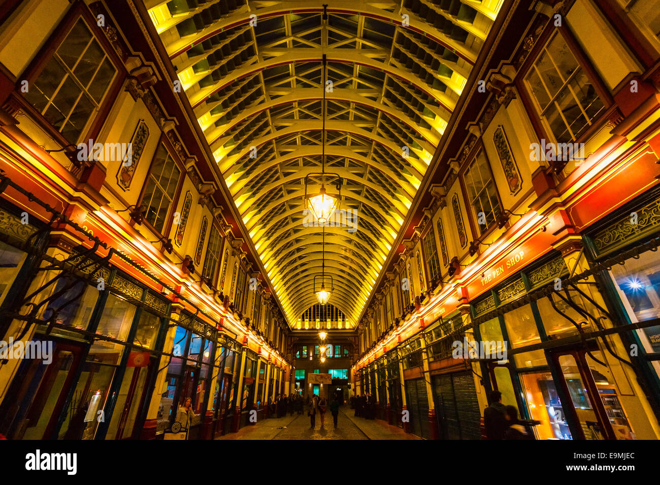 LONDON - MARCH 19: Leadenhall Market is a covered market in London ,It is one of the oldest marketsof the city, - Stock Image