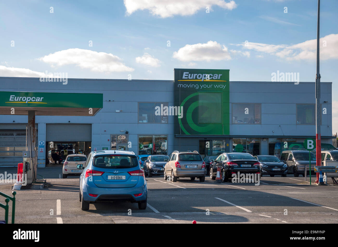 Europcar Car Rentals At Dublin Airport Ireland Stock Photo 74834194
