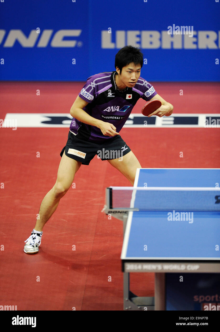 ISS Arena Duesseldorf, Germany 16.10.2014, Liebherr Tabletennis World Cup ,  Jun Mizutani (JPN) - Stock Image