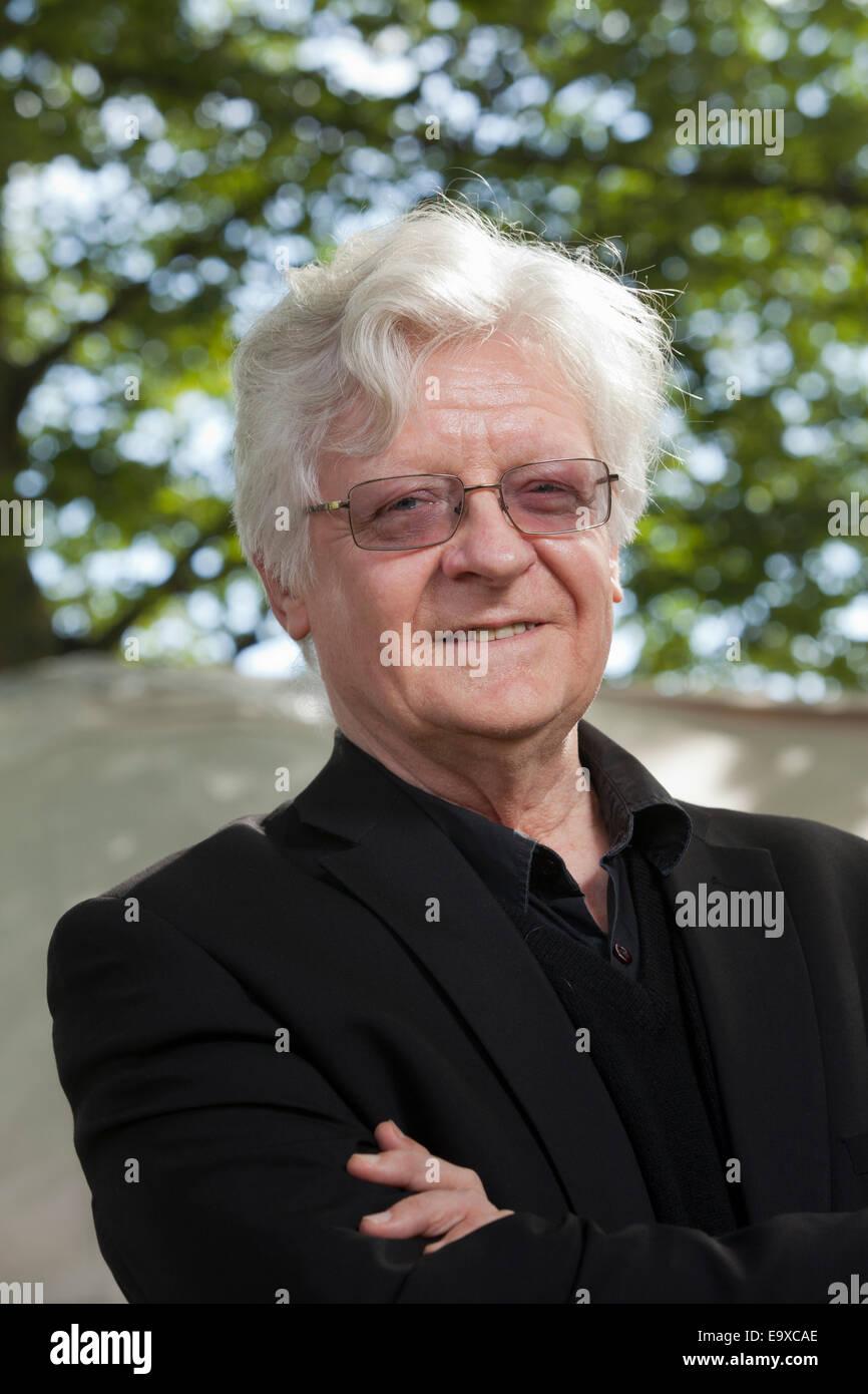Barry Miles, author, at the Edinburgh International Book Festival 2014. Edinburgh, Scotland. 19th August 2014 - Stock Image