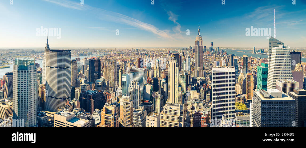 Manhattan aerial view - Stock Image