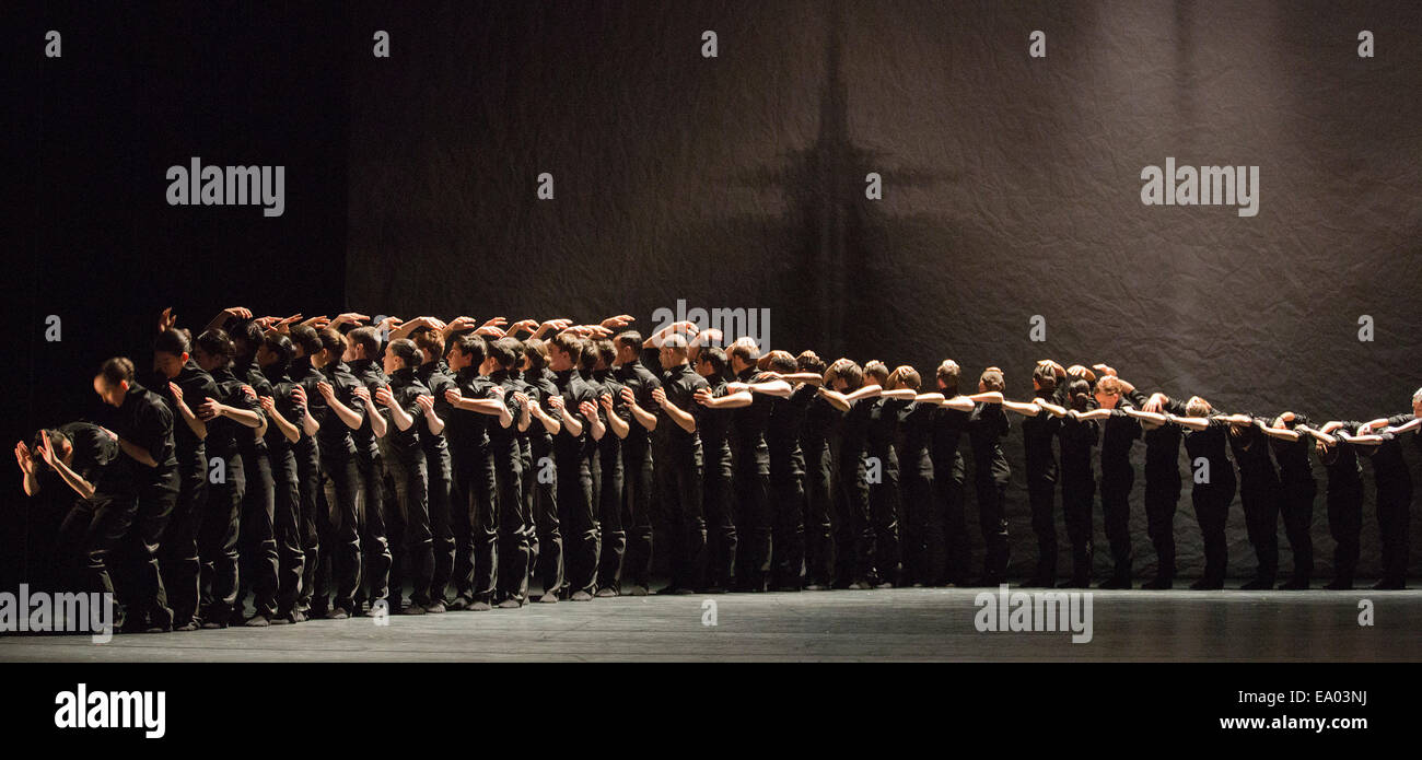Thomas Adès: See the Music, Hear the Dance at Sadler's Wells Theatre. Polaris choreographed by Crystal Pite. Stock Photo