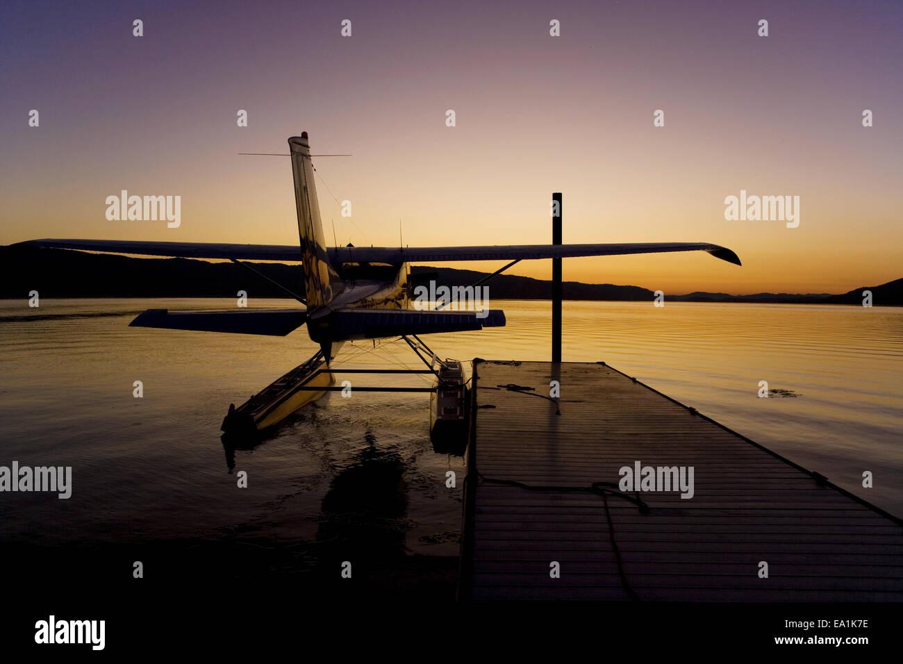 Seaplane Splash-In, Lakeport, California, Lake County, Californ - Stock Image
