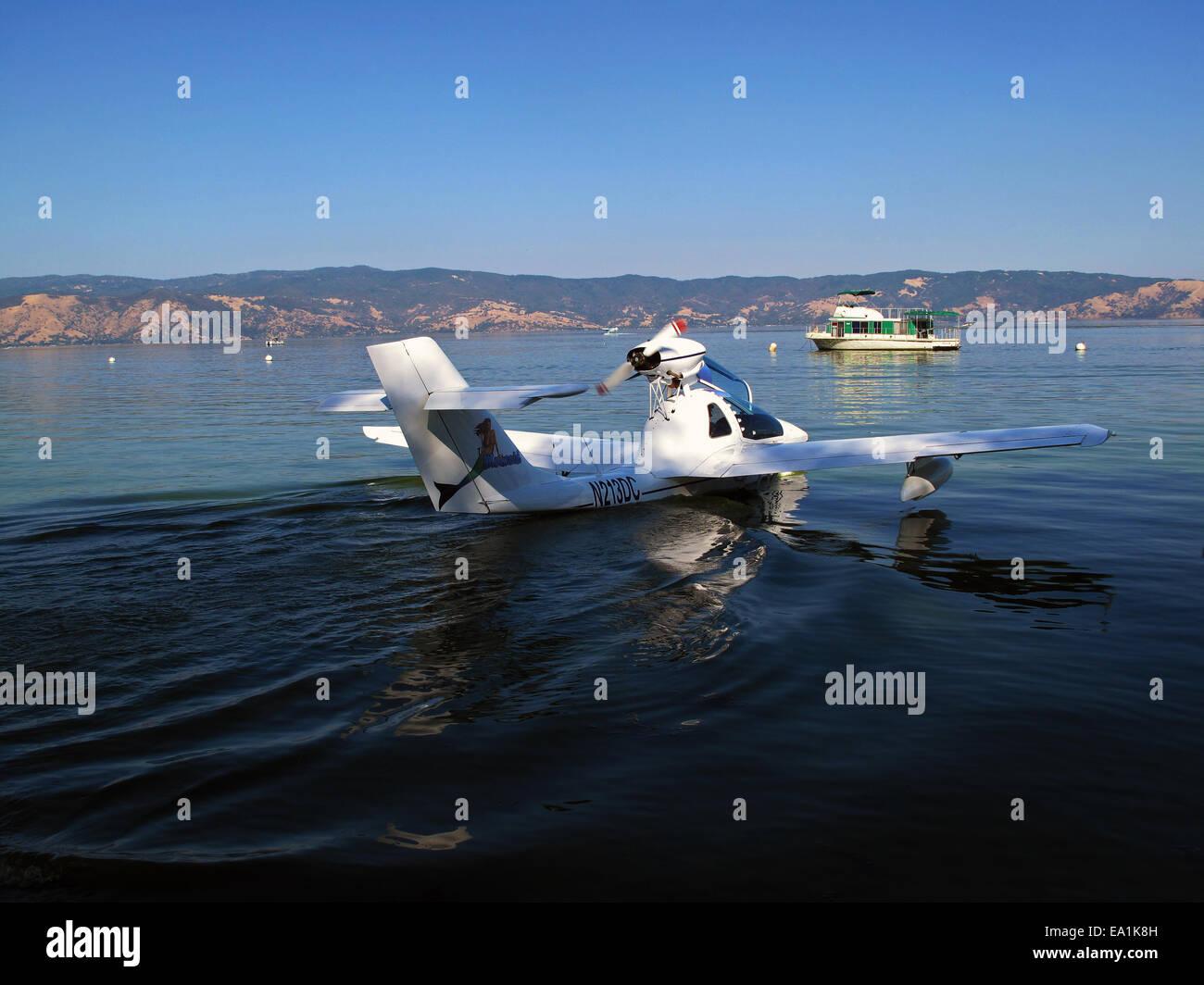 Czech Aircraft Works Mermaid Seaplane at the Splash-In, Lakeport, California, Lake County, California - Stock Image