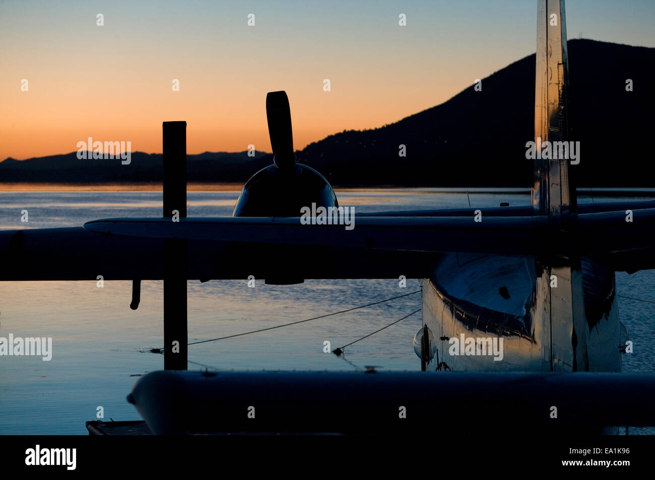 Seaplane Splash-In, Lakeport, California, Lake County, California - Stock Image