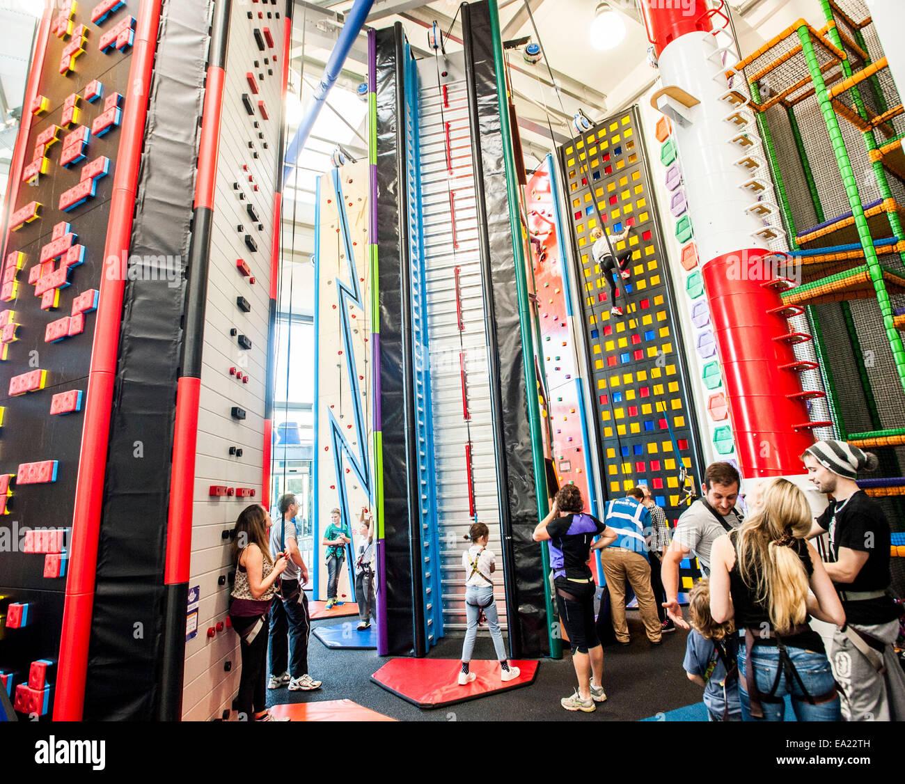 rock up an indoor climbing experience Whiteley Fareham - Stock Image