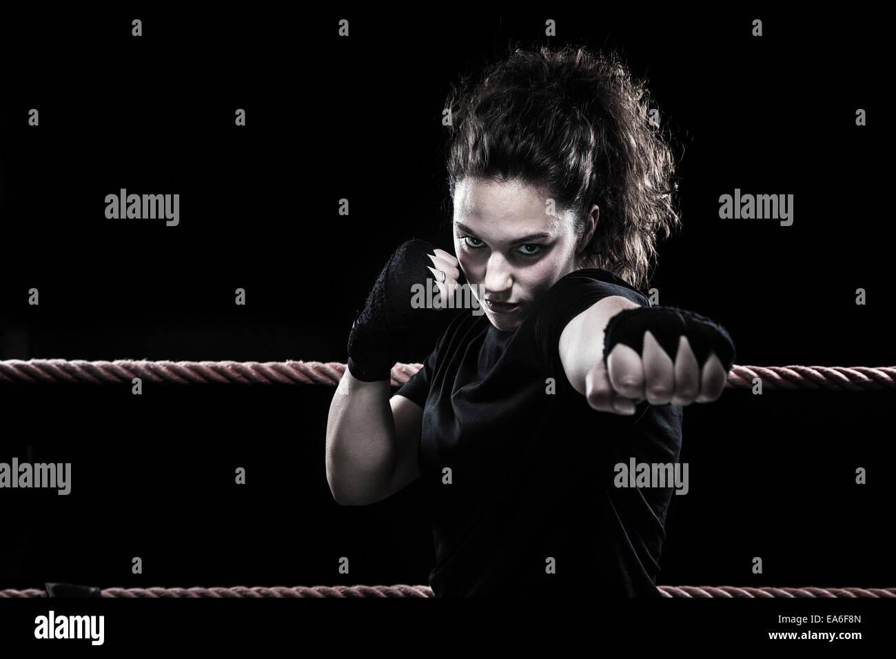 Female boxer - Stock Image