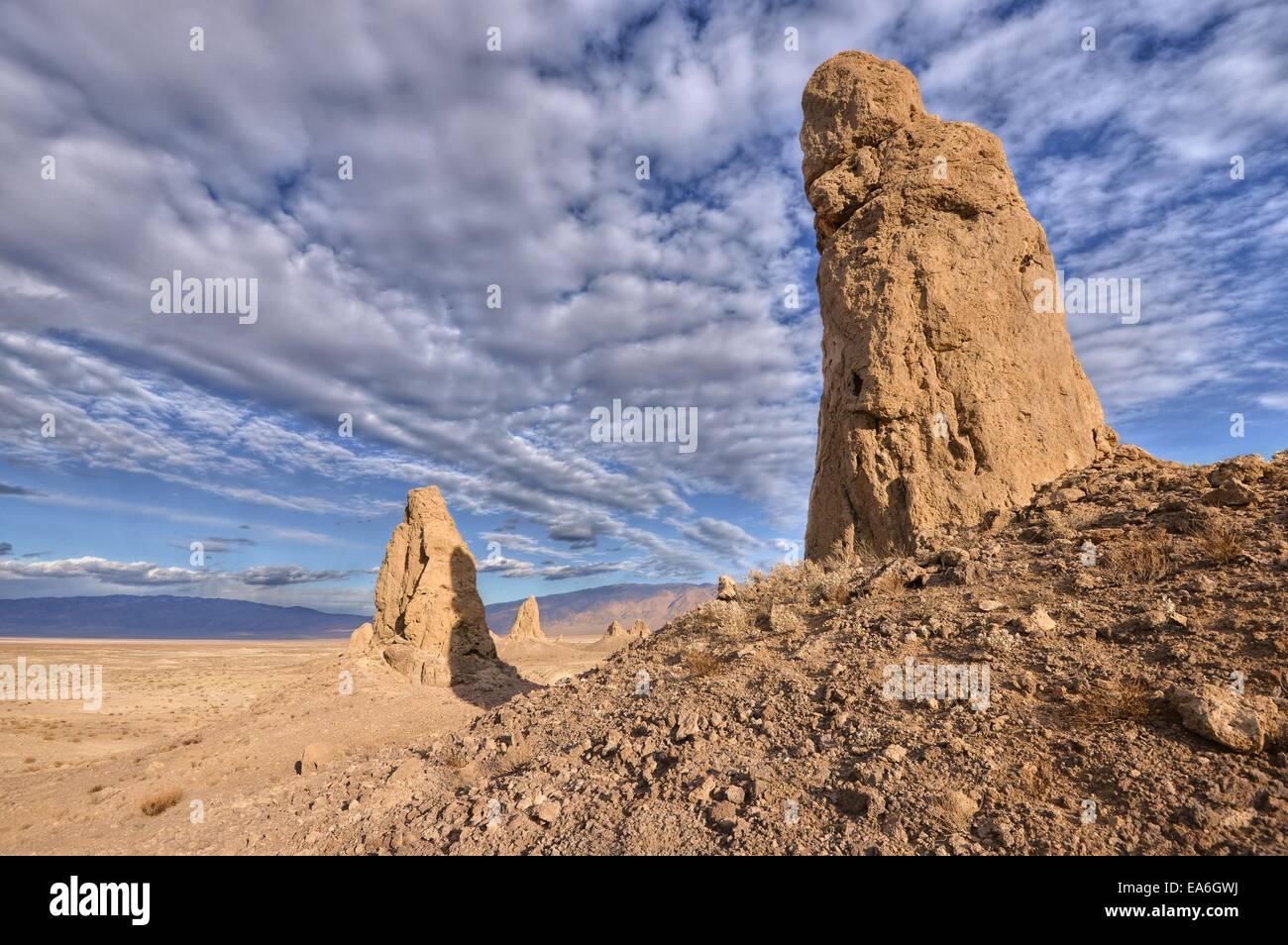USA, California, Mojave desert, Trona Pinnacles National Natural Landmark - Stock Image