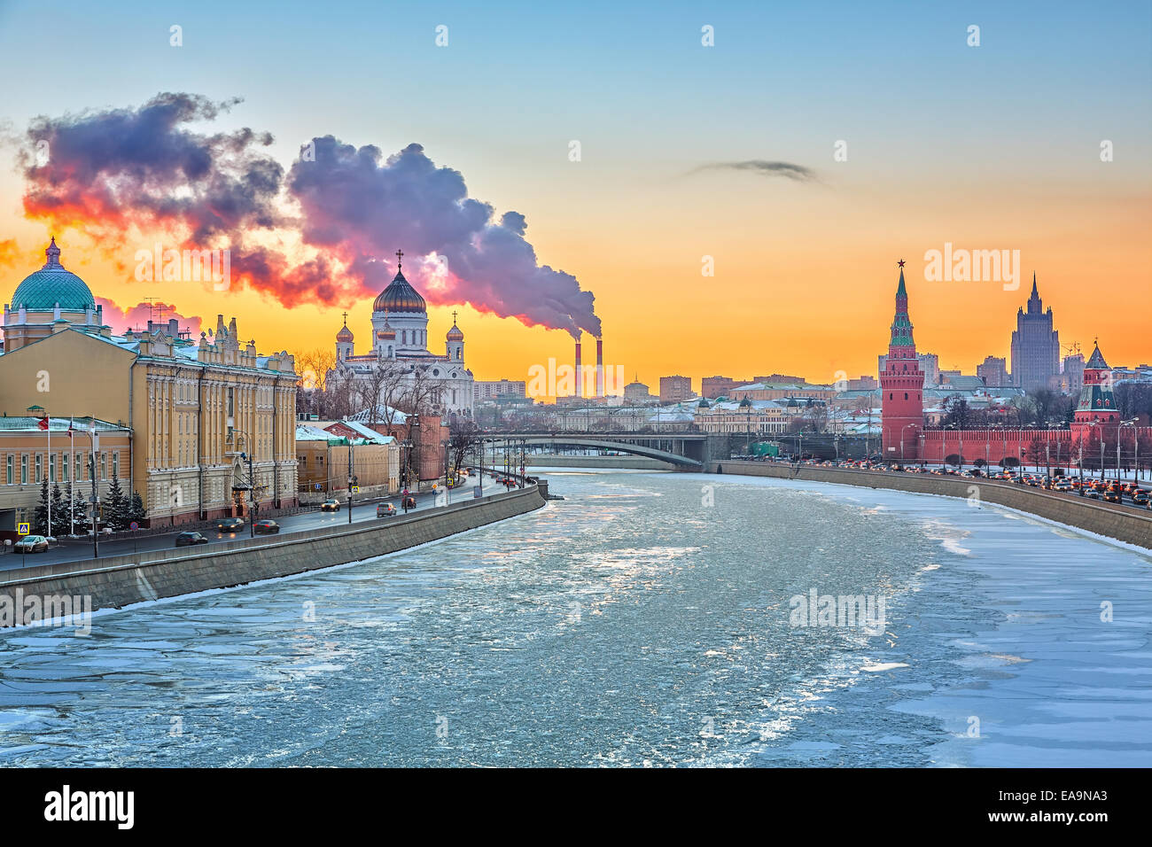 Winter in Moscow - Stock Image