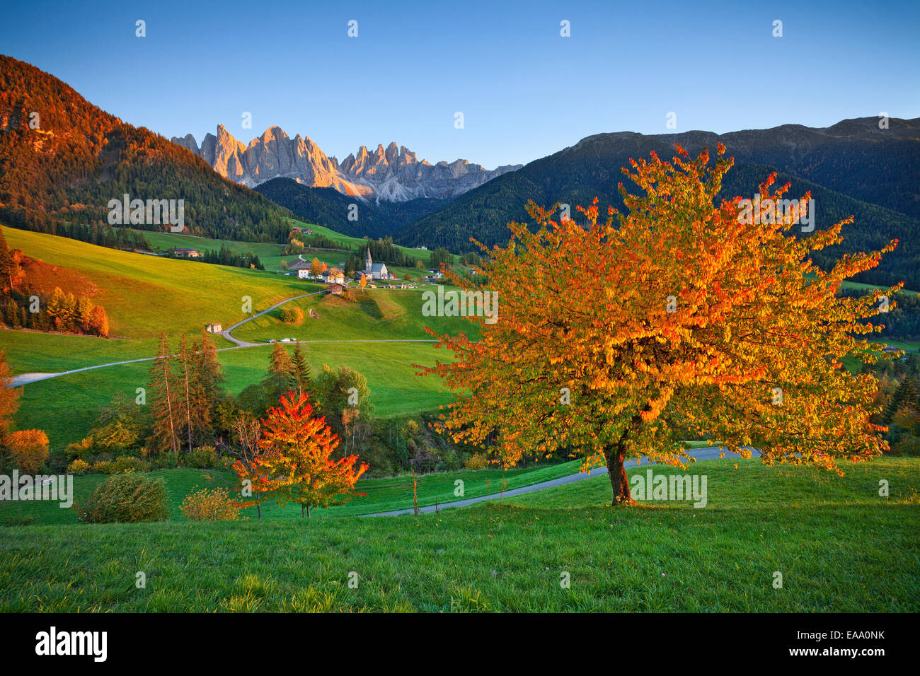 Autumn in  European Alps. - Stock Image