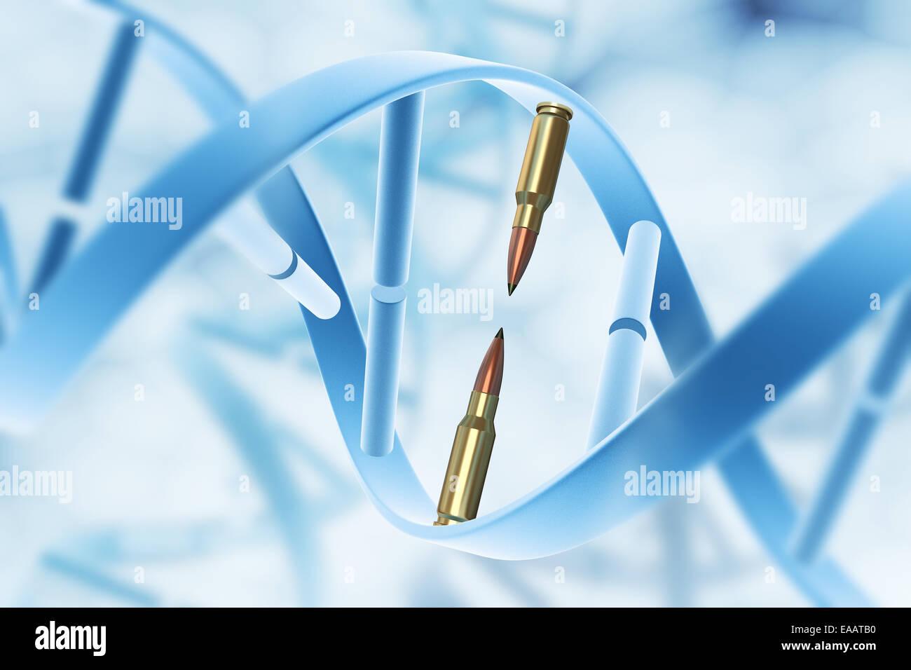 Aggression and destruction gene - Stock Image
