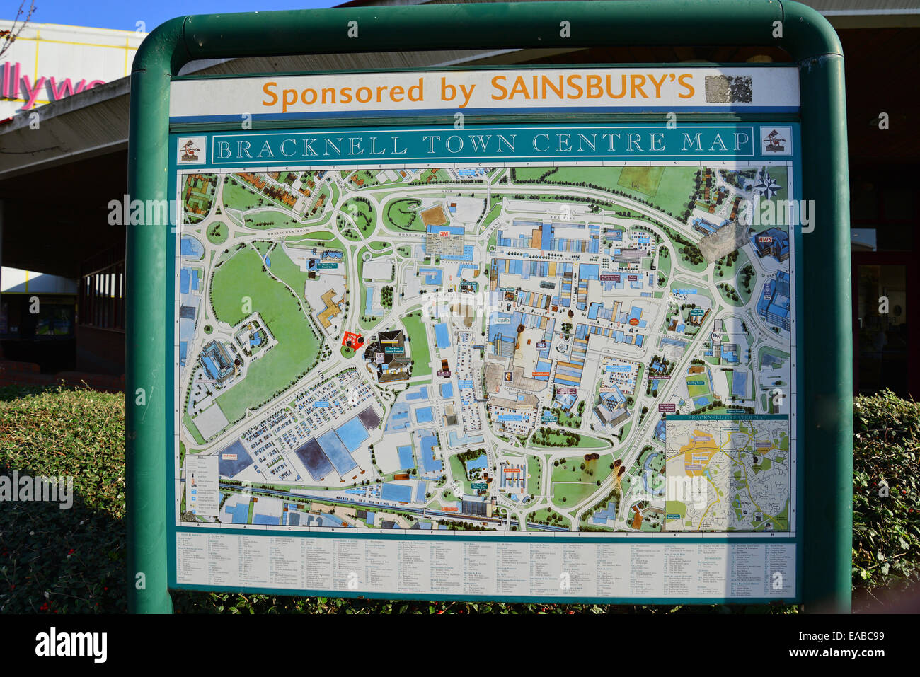 Bracknell town centre map Skimped Hill Lane Bracknell Berkshire
