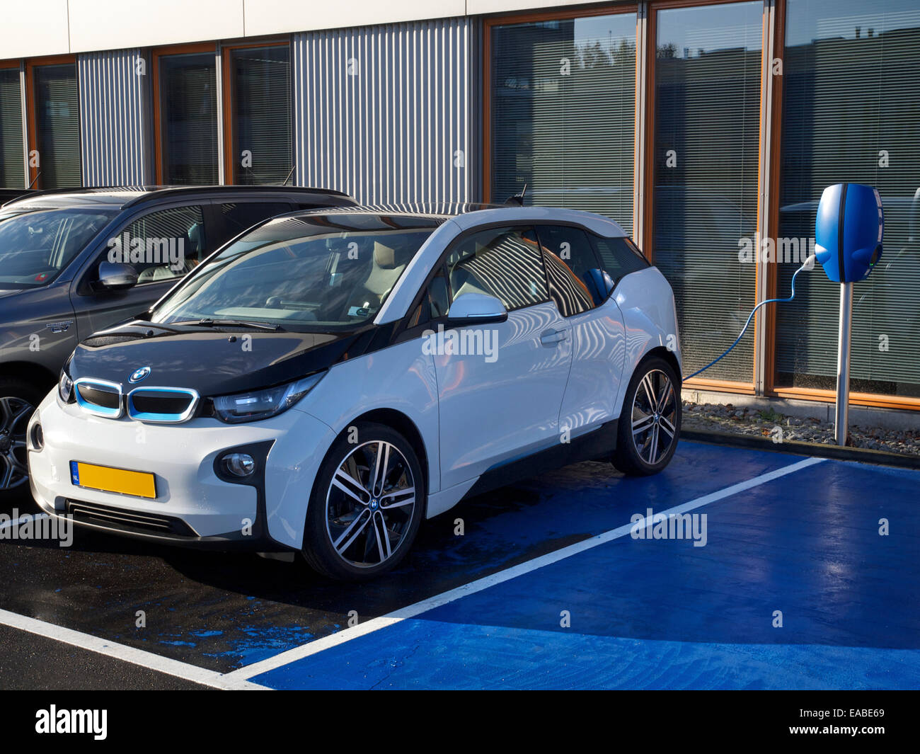 Bmw I3 Electric Car Parked At Charging Station In Breda The Stock
