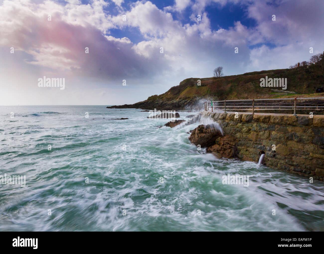Coastal scene on Guernsey  Channel Islands UK - Stock Image