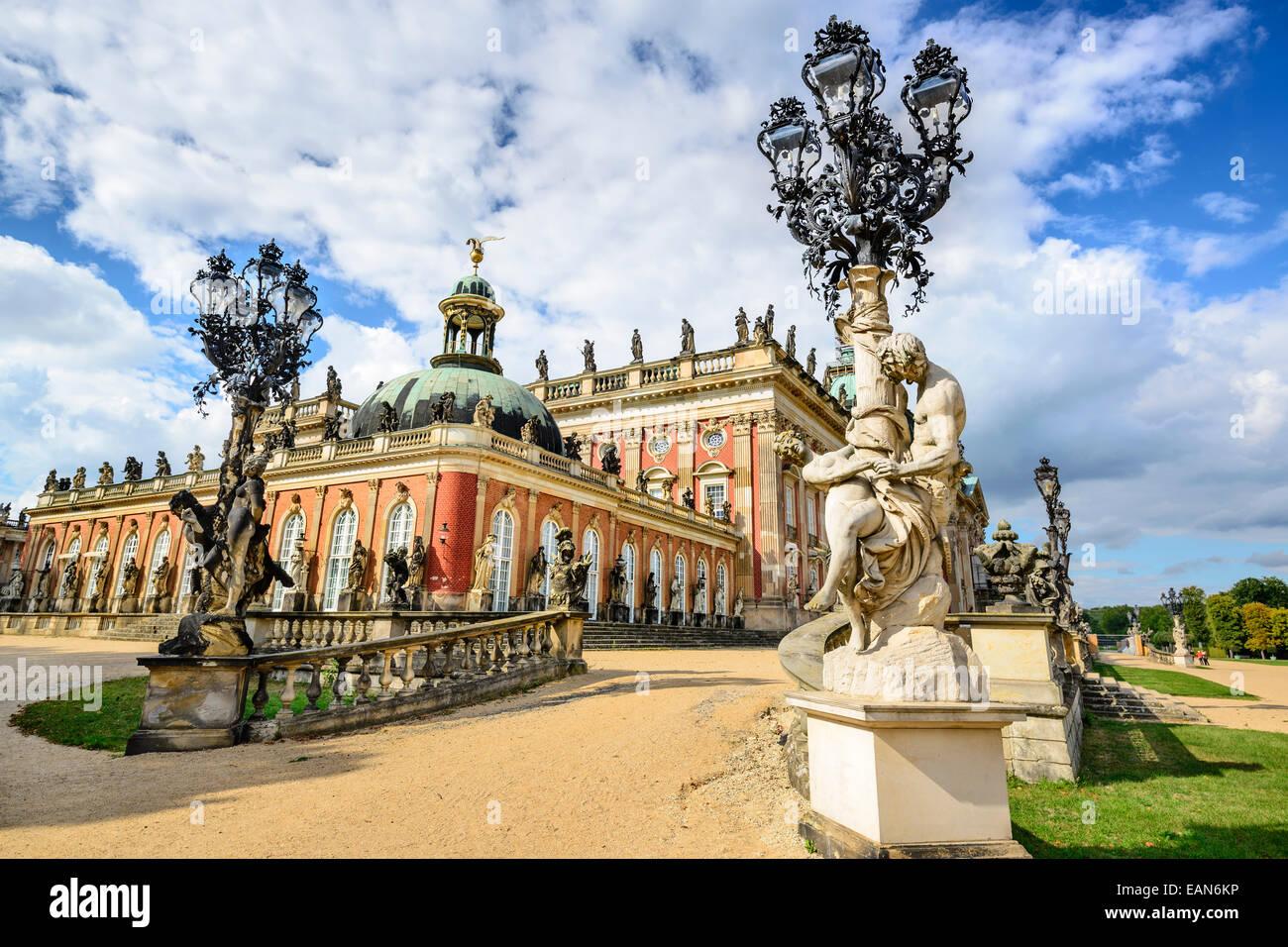 Neues Palais in Potsdam, Germany. - Stock Image