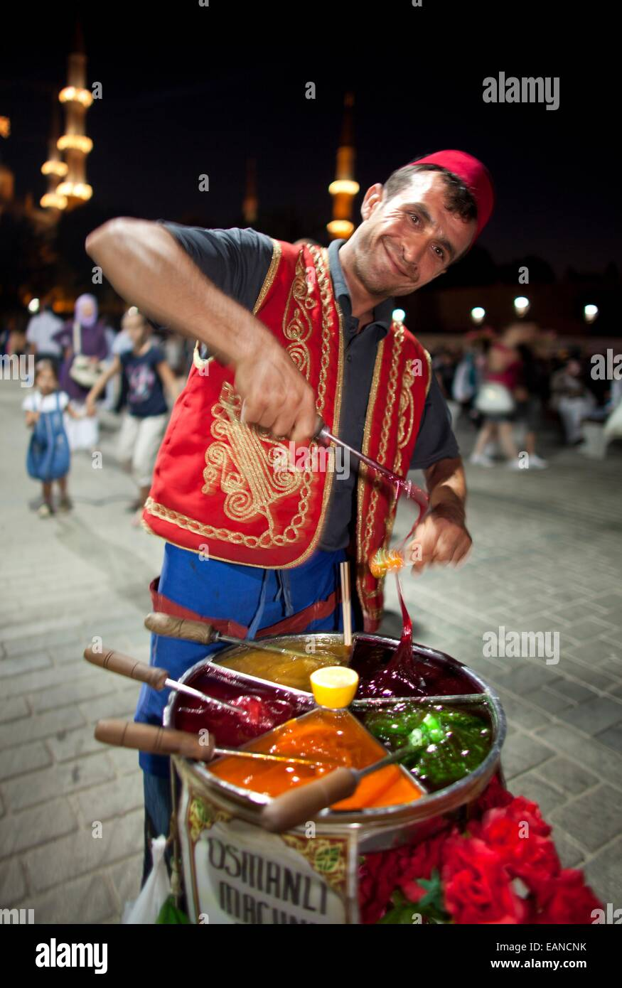 street vendor selling sweets, istanbul - Stock Image