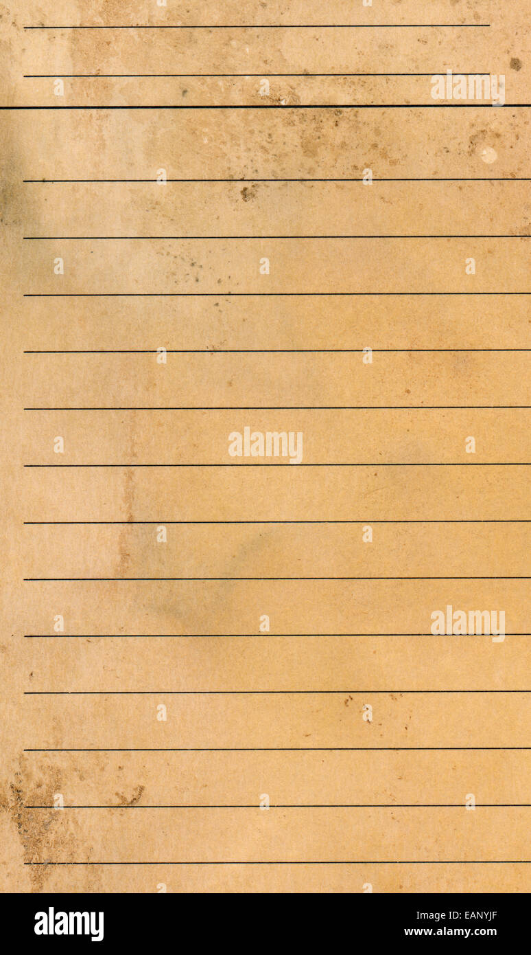 old grunge blank yellow lined paper sheet background or textured