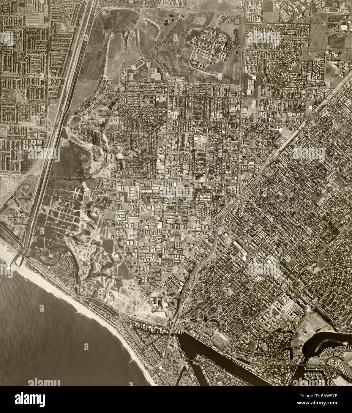 historical aerial photograph Costa Mesa, 1972 - Stock Image