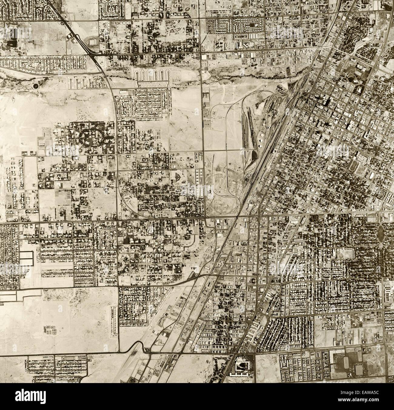 historical aerial photograph Las Vegas, Nevada, 1965 - Stock Image