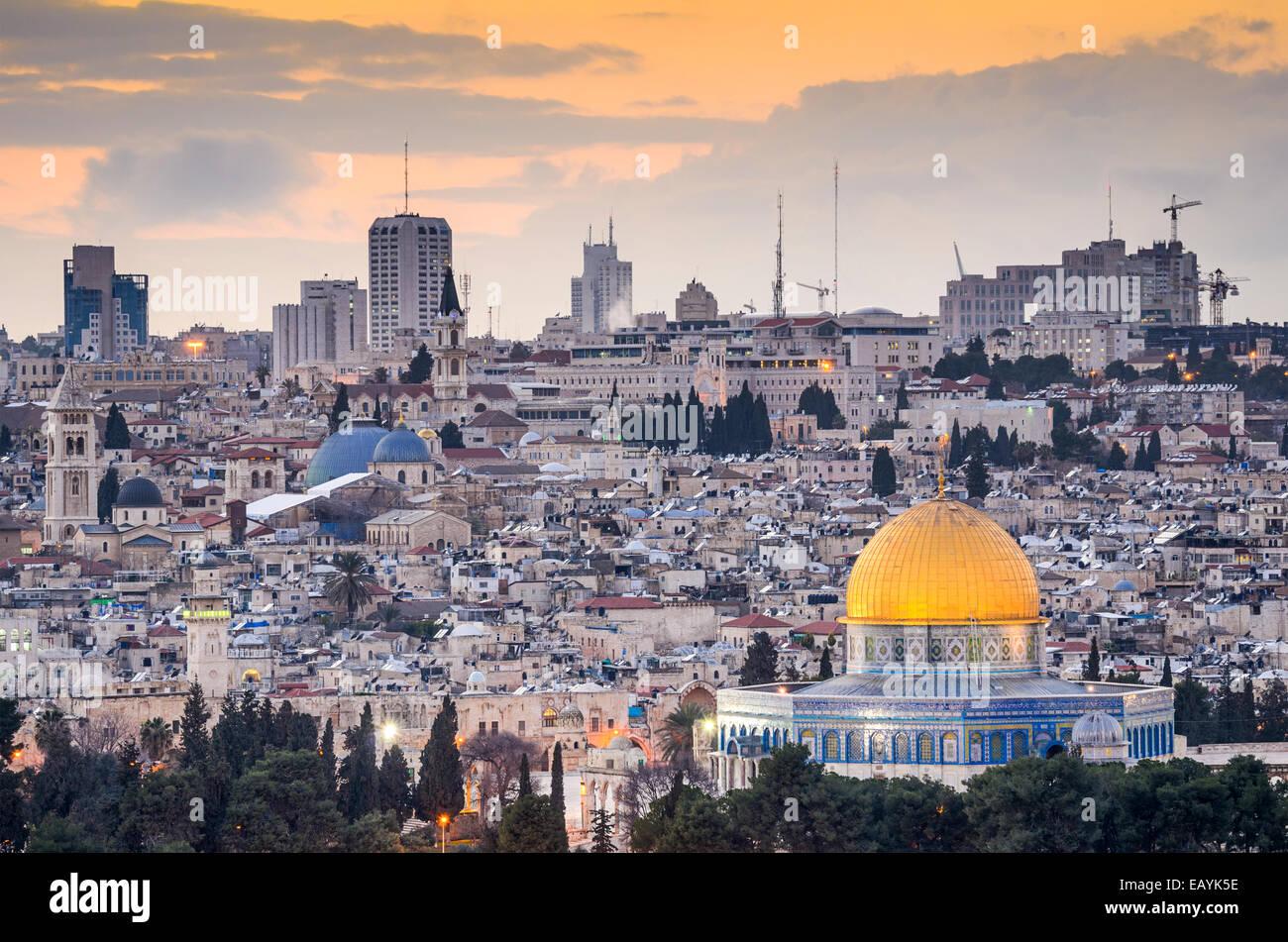 Jerusalem, Israel old city skyline. - Stock Image