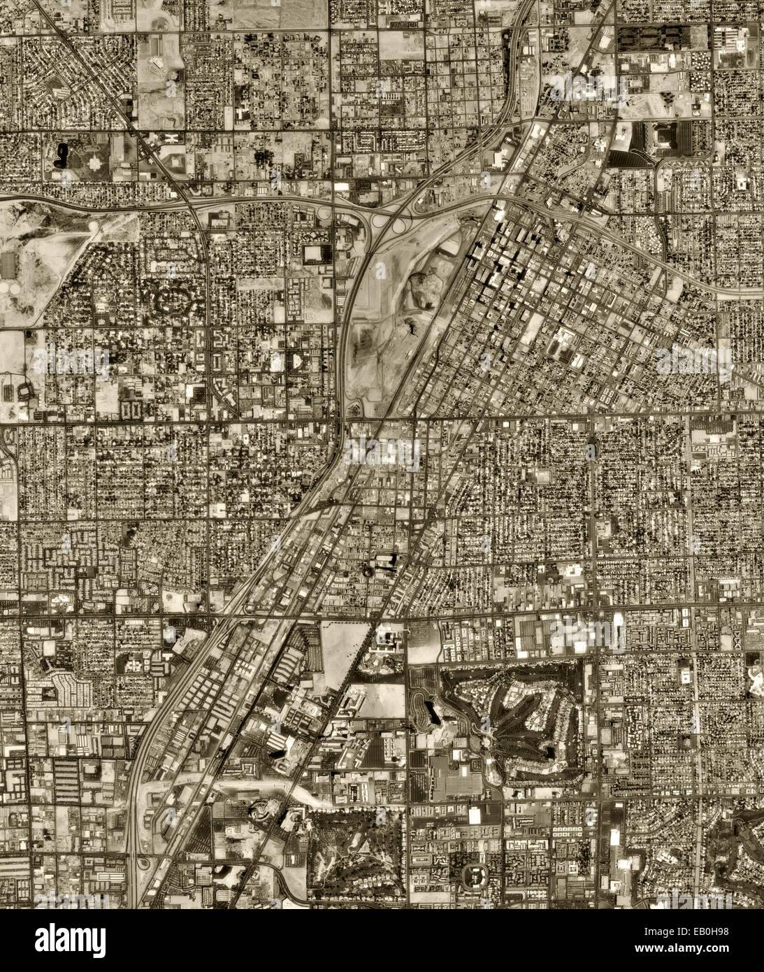 historical aerial photograph Las Vegas, Nevada, 1994 - Stock Image
