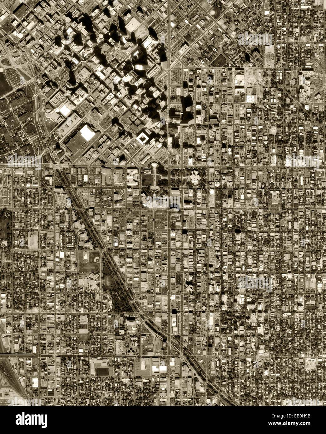 historical aerial photograph Denver, Colorado, 1999 - Stock Image