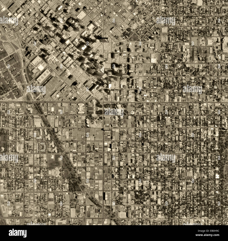 historical aerial photograph Denver, Colorado, 1993 - Stock Image
