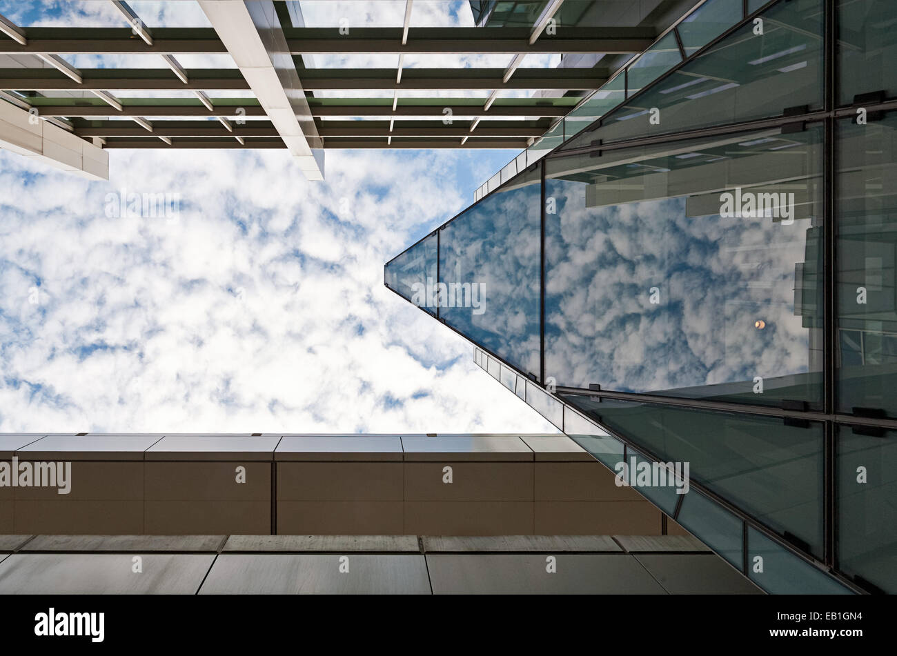 Architectural detail at Boston Airport. - Stock Image