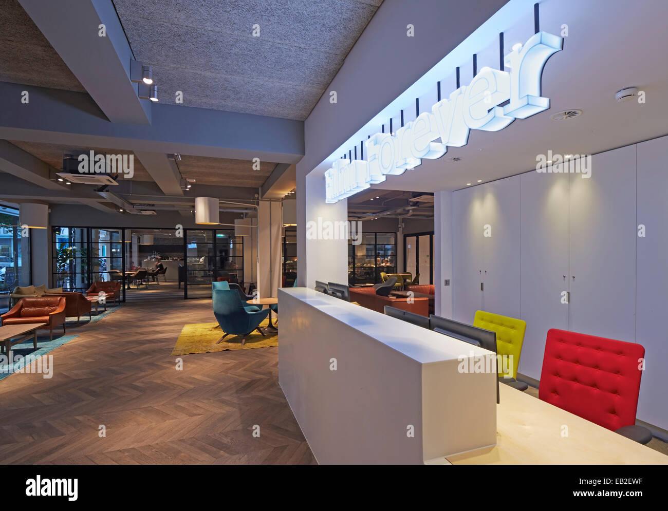 BRITISH FILM INSTITUTE (BFI), London, United Kingdom. Architect: Ben Adams Architects, 2014. Interior view with - Stock Image