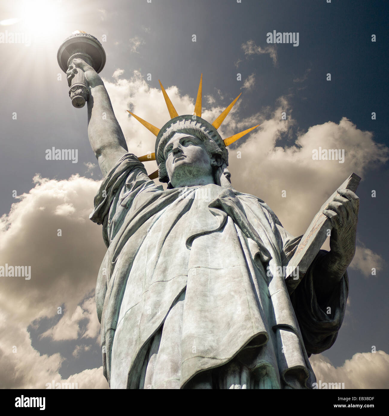 Statue of Liberty, New York, America, USA - Stock Image