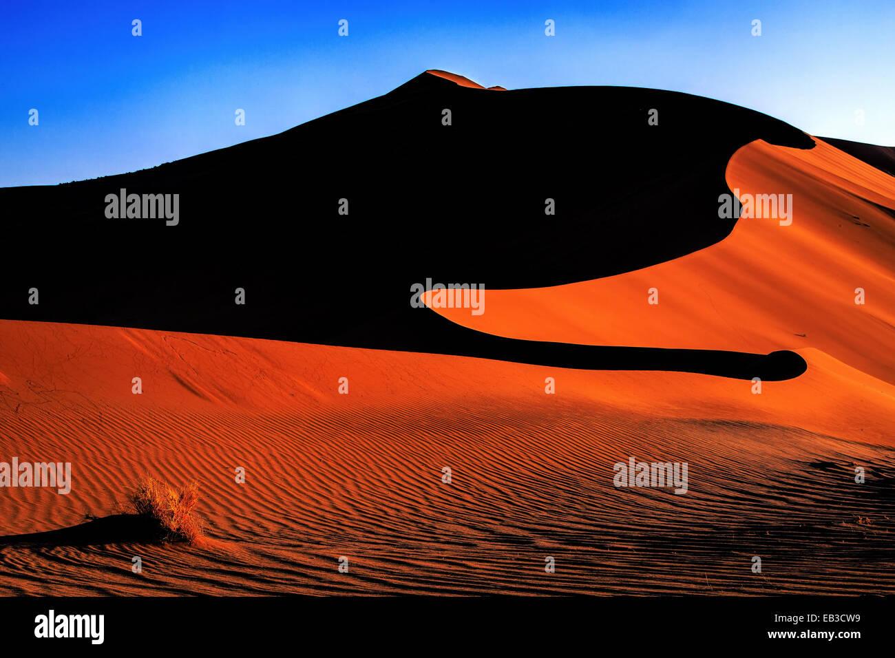 Namibia, Sand dunes of Sossuslvlei - Stock Image