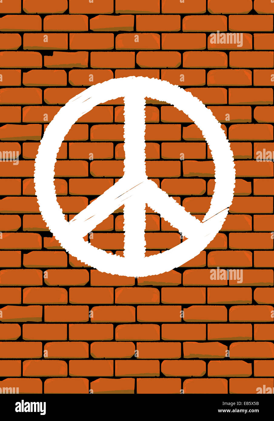 Ban The Bomb Symbol On A Traditional Brick Wall Stock Photo
