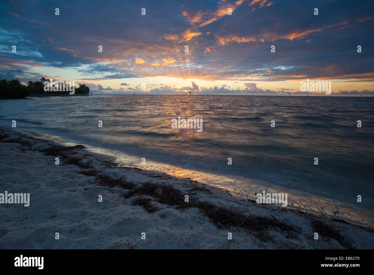 Curry Hammock State Park at sunrise, Little Crawl Key, Florida, USA. Stock Photo