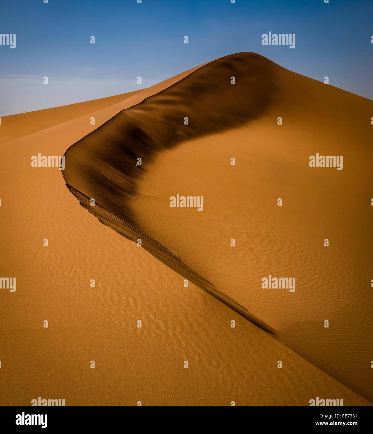 SAHARA DESERT ERG ZHAR MOROCCO AFRICA DUNES - Stock Image