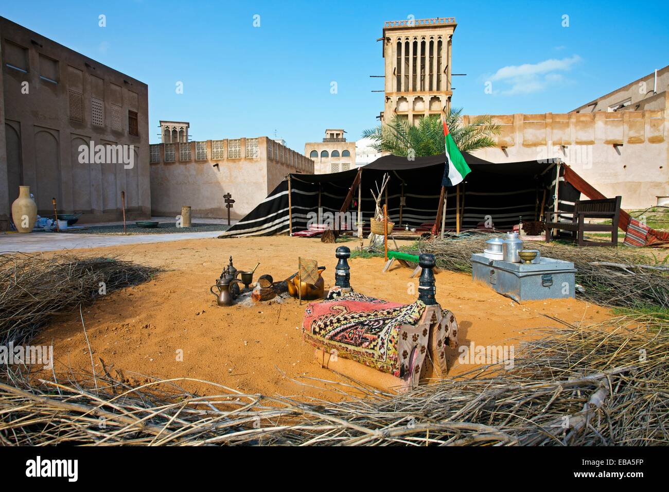 Traditional Bedouin tent in Heritage Village Dubai City Dubai United Arab Emirates. & Middle East Tent Village Stock Photos u0026 Middle East Tent Village ...