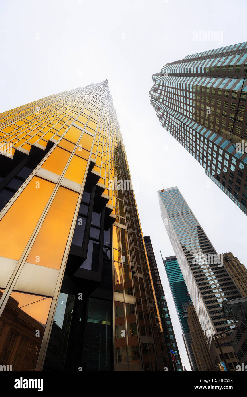 Office towers in the financial district of Toronto, Ontario, Canada - Stock Image