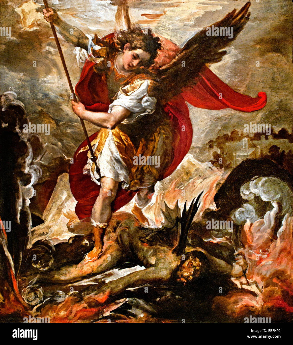 Saint Michael The Archangel Vanquishing Lucifer 1656
