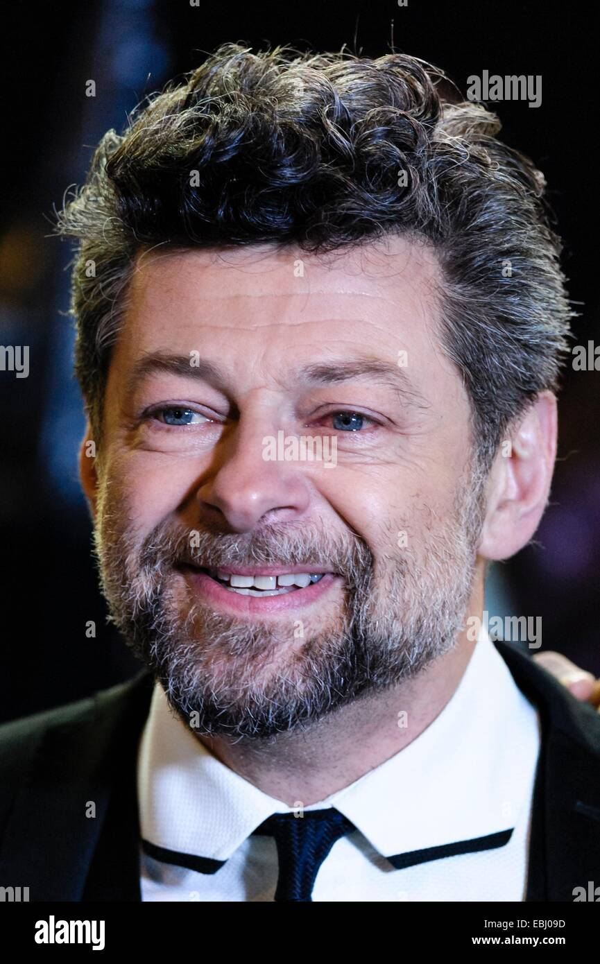 London, UK. 1st December, 2014. Andy Serkis attends the The World Premiere of The Hobbit: The Battle of 5 Armies - Stock Image