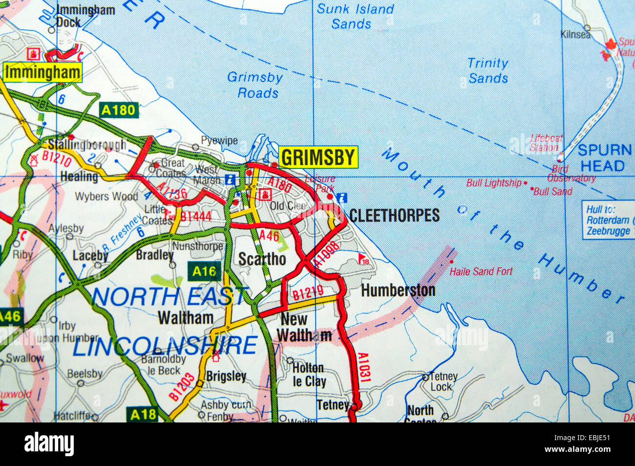 Road Map of Grimsby England Stock Photo 76008941 Alamy