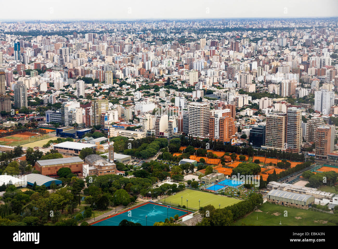 view to town, Brazil, Nunez, Buenos Aires - Stock Image