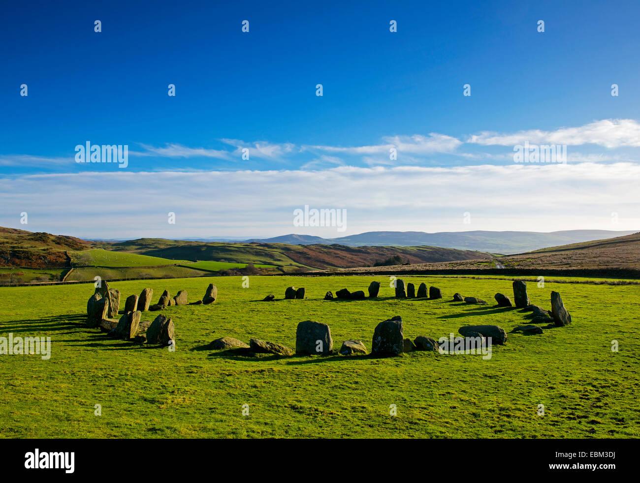 Swinside stone circle, Cumbria, England UK Stock Photo